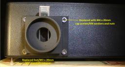 DAV5 fixed cuvette cap screws