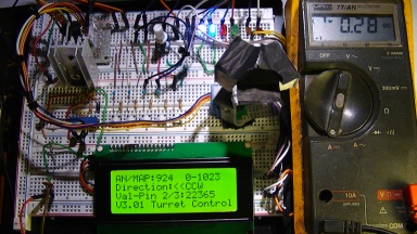 This is the updated setup on my protoboard showing the new LCD display program and and theory of operation. The 3 square mirrors represent the 25x25x6mm holographic diffraction gratings.