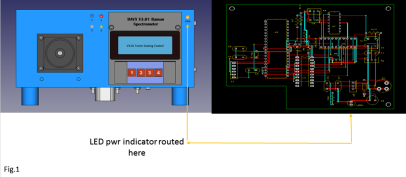 figure 1 Y LED PWR route
