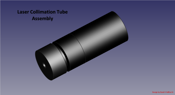 Assembly view Laser collimation tube 3D view jan 27