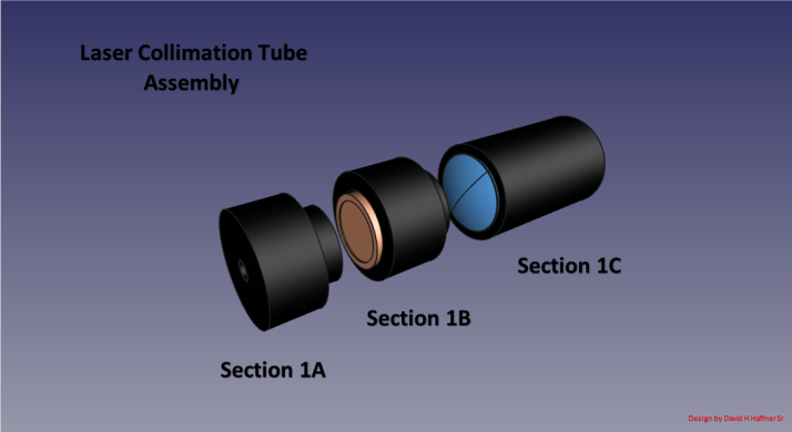 Assembly view Laser collimation tube all 3 sections jan 27